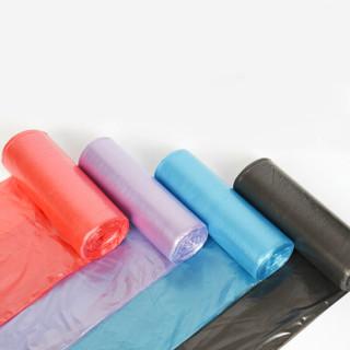 汉世刘家 垃圾袋 家用加厚垃圾袋 中号塑料拉圾袋 6卷150只45*50cm