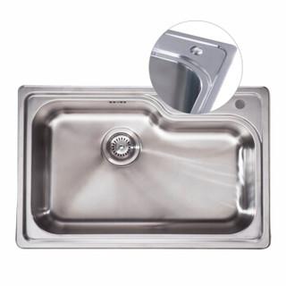 科勒KOHLER水槽洗菜盆厨盆不锈钢水槽 丽斯单槽台上厨盆K-77160-2S-NA