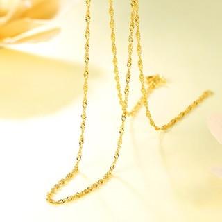 CHJ 潮宏基 CX0001217600 天长地久水波纹 足金项链 3.3g