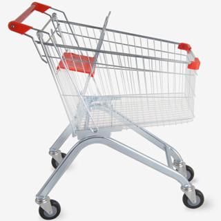 澳美佳超市购物车 家用手推车 购物推车便利店物业推车买菜车 100L