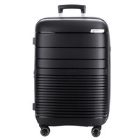 SUMMIT 拉杆箱24英寸万向轮男女托运箱行李箱PP808 黑色