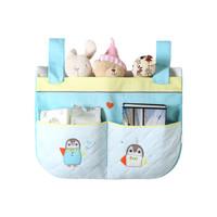 AUSTTBABY 婴儿床包挂袋 纯棉床上尿布收纳袋尿不湿袋子床头储物袋新生儿用品 圣伦斯堡