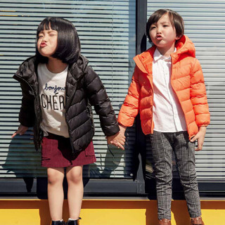小米生态链企业旗下品牌 稚行儿童轻薄生物绒棉服 杜邦生物绒 保暖升级 耐洗耐穿 男/女孩棉服 百搭黑 130