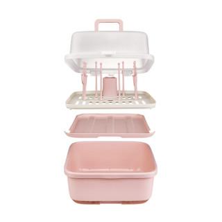 babycare奶瓶收纳箱晾干架 婴儿奶瓶沥水架宝宝餐具收纳盒带盖防 4502里瑟米