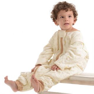 宜贝儿(ebenz)婴儿保暖睡袋 简笔画夹棉分腿睡袋儿童防踢被宝宝睡袋【120g棉】(85*40)