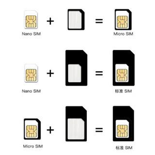 技光(JEARLAKON)卡槽卡针四件套 手机卡托还原sim卡套Micro/Nano转化卡槽取卡针苹果华为小米通用黑色