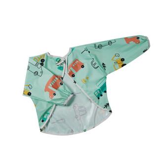 babycare儿童罩衣 宝宝吃饭罩衣防水防溅 幼儿长袖围兜反穿衣 5206弗里达公路