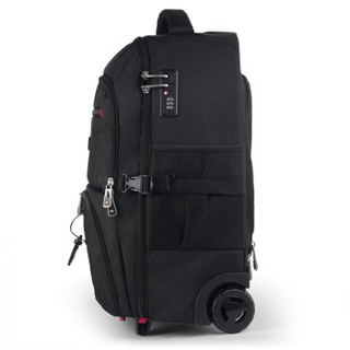 CROSSGEAR 双肩拉杆包17.3英寸笔记本电脑背包男旅游行李包登机手提拖拉包书包大容量出差旅行袋CR-098112黑