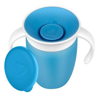 满趣健(Munchkin)儿童水杯宝宝学饮杯 喝水训练杯带盖带手柄204ml 绿色