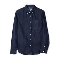 Gap 盖璞 男装口袋纽扣开襟长袖牛仔衬衫男士上衣 843237