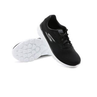 SKECHERS 斯凯奇 休闲鞋 情侣男女同款透气超轻舒适时尚 15295-BKW 黑色/白色 43