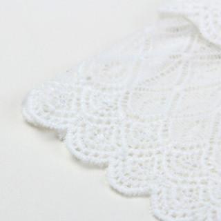 尚都比拉(Sentubila) 通勤蕾丝抹胸背心前片防透打底吊带衫 W82I0320616 白色 均码