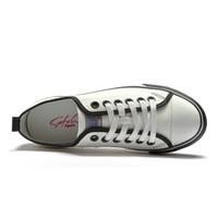 SATCHI 沙驰 情侣款舒适百搭黑白色经典帆布鞋  M6493161 白色 36