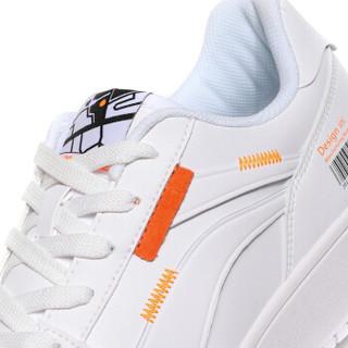 LI-NING 李宁 运动时尚系列 男 秋冬季 运动时尚鞋 AGCN357-1 标准白/荧光耀橙 42