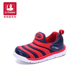 奥特曼童鞋 毛毛虫童鞋 新款儿童运动鞋小童宝宝鞋 A10253 黑色 24码