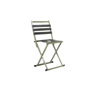 鲸伦(KINGRUNNING) 户外便携折叠椅凳子 马扎凳子 带靠背休闲椅凳子 室外钓鱼凳 加厚折叠椅 银色大号