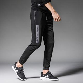 金盾(KIN DON)休闲裤 新款男士时尚简约休闲运动长裤A127-K132黑色3XL
