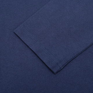 KENZO 高田贤三 男士墨蓝色LOGO图案棉质圆领长袖T恤卫衣 F66 5TS152 4BD 78 L码