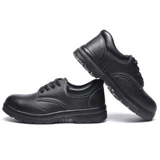 维致 劳保鞋男透气轻便 防静电耐高温耐油酸碱绝缘6KV工地安全靴 WZ2006 牛皮 308黑色44