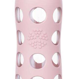Lifefactory LF220020C4 耐热玻璃杯 475ml 浅粉色