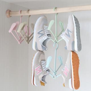 良然 晾鞋架 多功能成人儿童加厚防风晒鞋架 挂鞋架 可旋转塑料晾鞋架 粉色 5只装