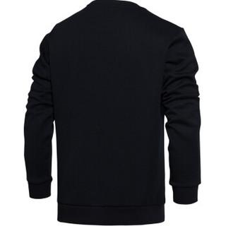 LI-NING 李宁 AWDM795-1 运动时尚系列 男 卫衣类 标准黑 S