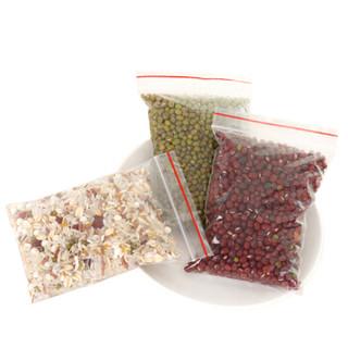 谋福 8806透明加厚自封袋包装袋收纳袋封口袋防水袋密封袋食品防潮袋首饰袋100只装(8号240mmX170mm)3件装
