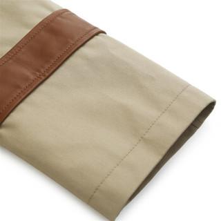 TRUSSARDI 杜鲁萨迪男士卡其色聚酯纤维长款风衣32S00117 1T001859 W050 54码