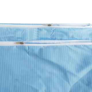谋福 9076 防静电收纳包 洁净无尘包 无尘服袋子 无尘工作包(蓝色款 5个装)
