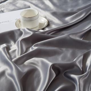 曼克顿 被套 欧式水洗真丝纯棉被套 全棉绣花被套 单件 印象灰 200*230cm