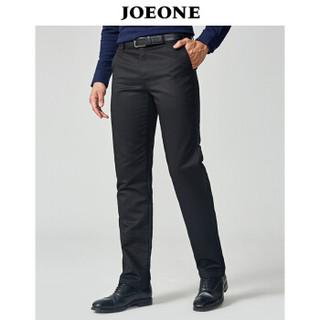 九牧王(JOEONE)休闲裤 男士2018年秋季新款商务休闲男裤180/94B黑色JB185044T