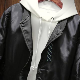 鳄鱼恤(CROCODILE)男休闲夹克 2019新品时尚潮流韩版双面穿立领长袖外套 98782013 黑色 180