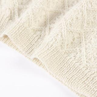 SOL ALPACA 女士白色亮丝秘鲁原产小羊驼毛阿尔巴卡休闲毛衣套头针织衫 14448 100 S