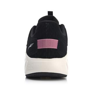 LI-NING 李宁 ARHN242-6 跑步系列 女跑步鞋类 标准黑/乳白色 36