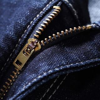 猫人(MiiOW)牛仔裤2019春季新款男士潮流青年时尚休闲百搭牛仔长裤子A329-359深蓝色30