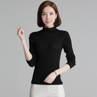 尚格帛 2018冬季新品女装羊绒衫纯色高领毛衣套头针织衫打底衫 LLPY16MP6-001GB 浅灰 M
