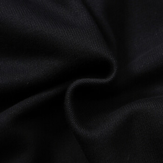 LI-NING 李宁 AWEN045-1 训练系列 男 卫衣卫裤套装 标准黑/标准白 S