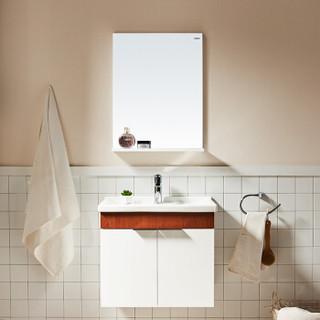 恒洁(HEGII)现代简约洗手盆浴柜多层实木浴室柜吊柜HBT506020N-60E不带侧柜