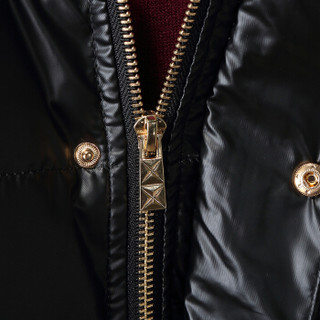 卡帝乐鳄鱼(CARTELO)羽绒服男士2018冬季新款大毛领连帽修身中长款保暖外套 蓝色 3XL