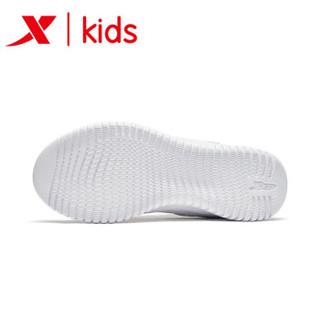 特步童鞋 儿童运动鞋男童鞋2018秋季新款休闲鞋跑步鞋中大童鞋子 682315119028 白色 32