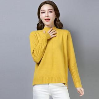 尚格帛 2018冬季新品女装毛衣女韩版套头打底针织衫套头高领毛衣 LLFYMD8602GB 黑色 2XL
