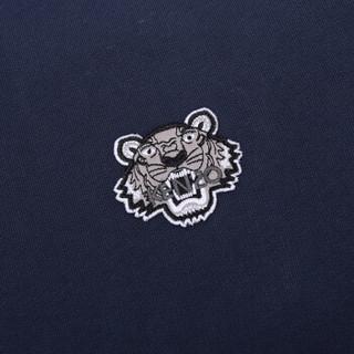 KENZO 高田贤三 男士墨蓝色棉质圆领长袖运动衫卫衣 F86 5SW005 4MD 78 L码