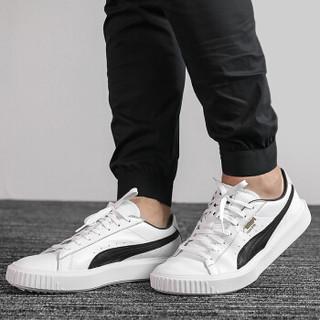 PUMA 彪马 男女同款 休闲鞋 板鞋 BREAKER LTHR 运动鞋 366078 02 彪马白色41码