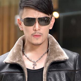 金盾(KIN DON)PU皮衣 新品男士时尚翻领加绒加厚皮衣外套1616-1513黑色XL