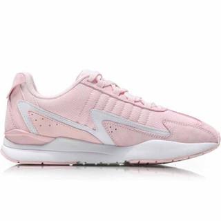 LI-NING 李宁 运动时尚系列 女 运动时尚鞋  AGCN398-5 弱粉红/标准白 38