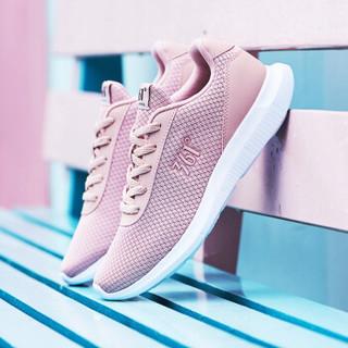 361度 女鞋跑步鞋2018秋季新品轻便减震透气运动鞋 681832270-2 粉玫红/361度白 38