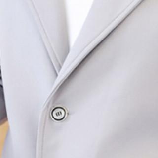 俞兆林(YUZHAOLIN)风衣夹克 男士时尚简约连帽纯色夹克外套401-F124浅灰色XL