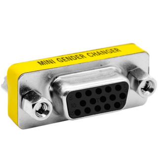 礼嘉(LIJIA)MM-DB15  电脑VGA母对母转接头 15孔/15孔 一体转换延长头 DB15孔VGA视频线转接头 支持互转