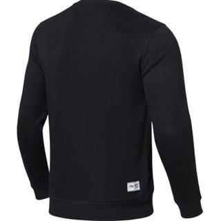 LI-NING 李宁 AWDN805-1 运动时尚系列 男 卫衣类 标准黑 M