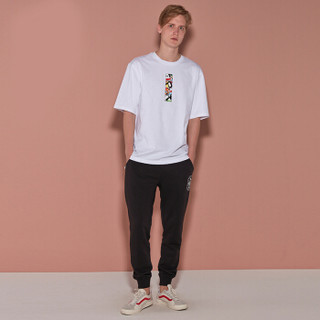 Paul Frank/大嘴猴 2019夏季新品男时尚卡通短袖T恤 PFATE182433M 白色 XXL
